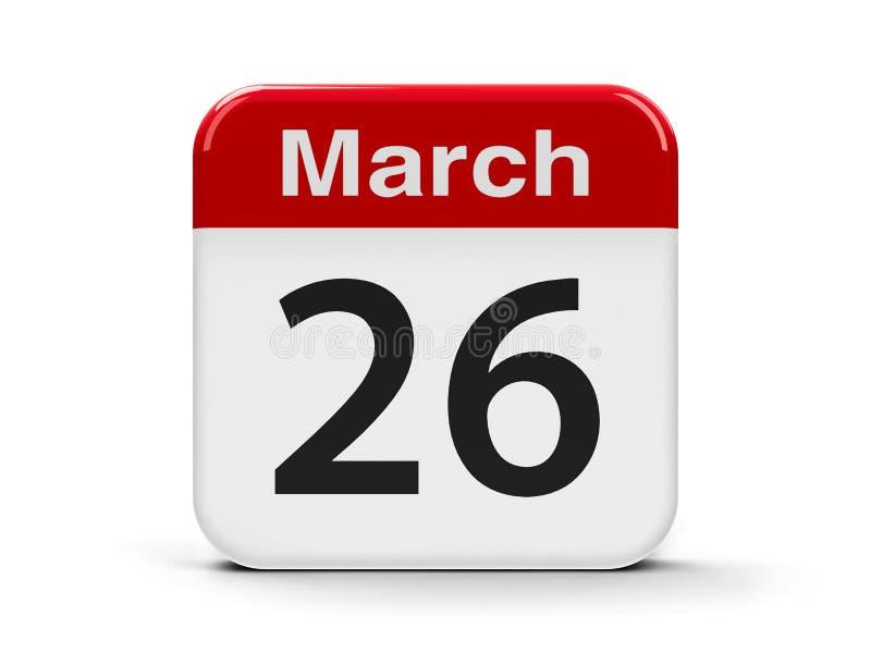26 mars illustration de vecteur