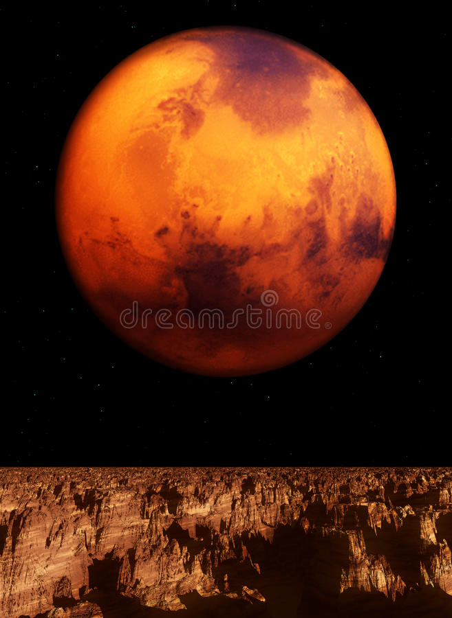Mars-Ansicht vektor abbildung