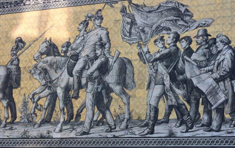Mars av prinsarna - II - Dresden - Tyskland royaltyfria bilder
