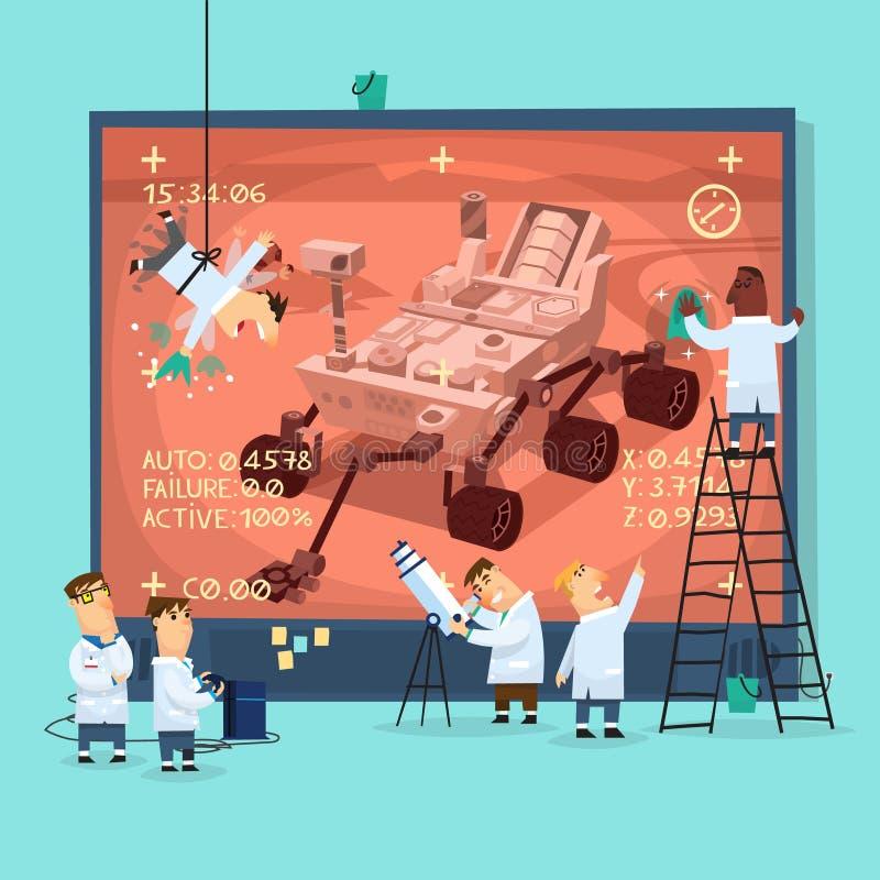 Mars badania plakat ilustracja wektor