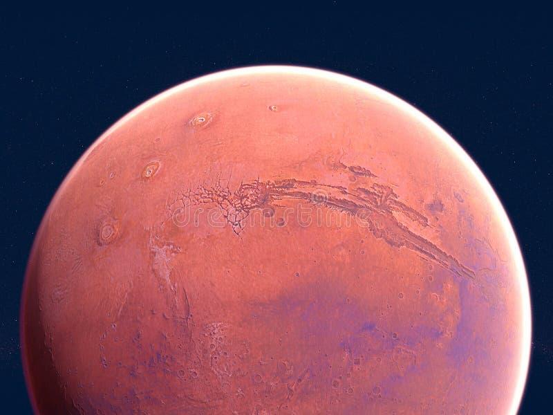 Mars, Bodenkruste, Raum, Sonnensystem vektor abbildung