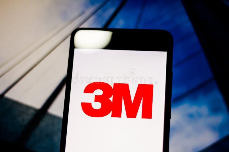 Mars 10, 2019, Brasilien 3M Company logo på mobil enhetskärmen Det är en amerikansk multinationell ekonomisk grupp av diversifier arkivbilder