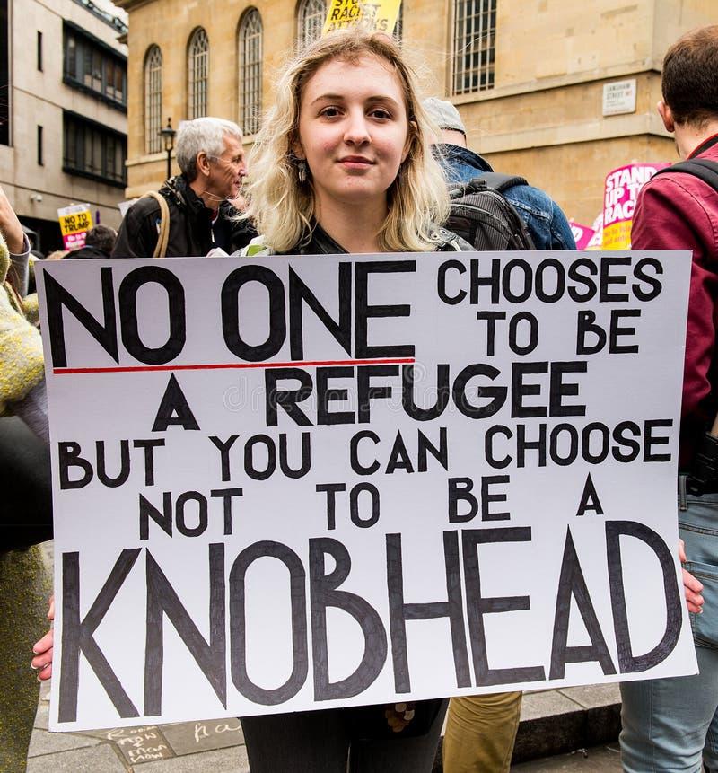 Mars contre le racisme - Londres, R-U photos libres de droits