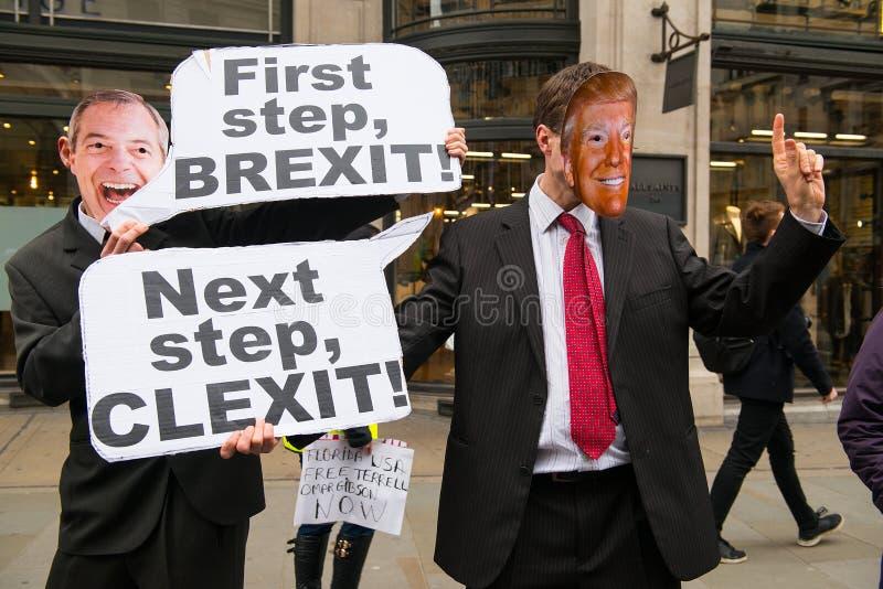Mars contre le racisme - Londres, R-U photo libre de droits
