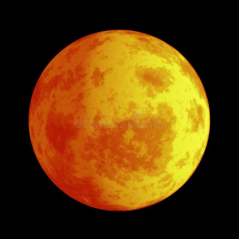 Mars de rode planeet vector illustratie