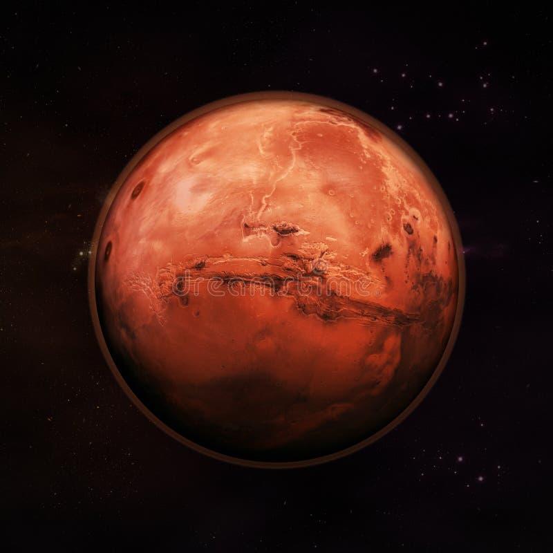 Mars - der rote Planet lizenzfreie abbildung