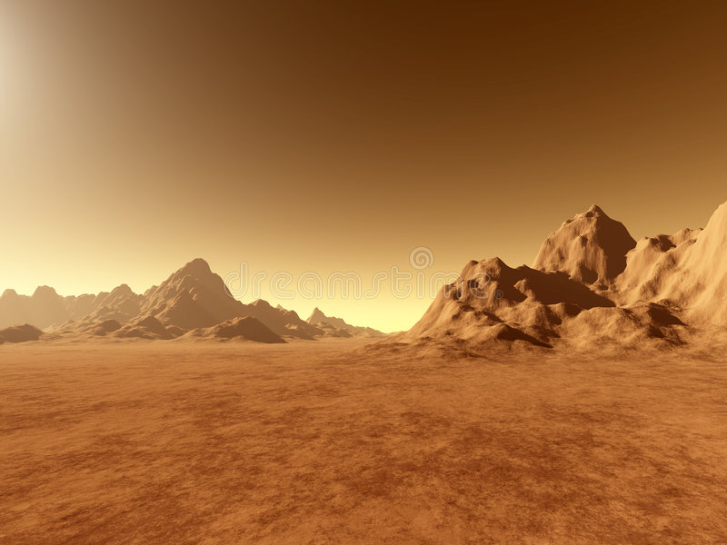 Download Mars - dichtbij Grond stock illustratie. Afbeelding bestaande uit ruimte - 28043