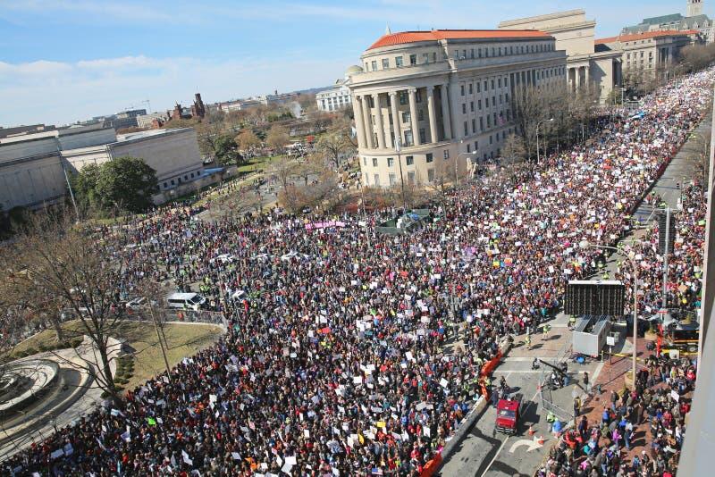 Mars för vår livprotest, Washington, D C royaltyfri fotografi