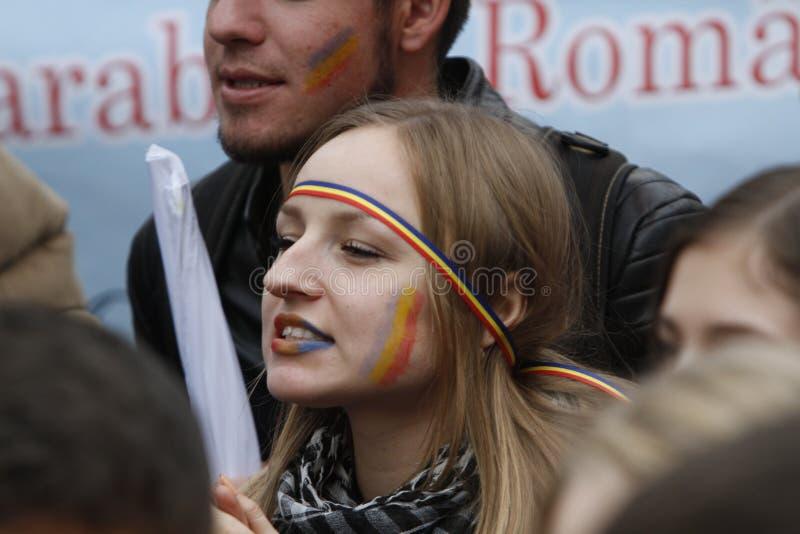 Mars fackliga Rumänien och Moldavien fotografering för bildbyråer