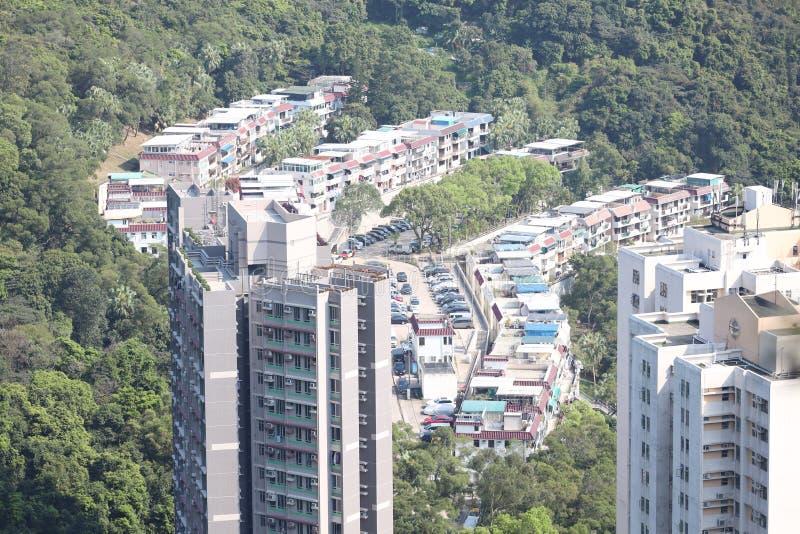 22 mars 2020 i byn Yau Yue Wan i Hongkong NT arkivfoto