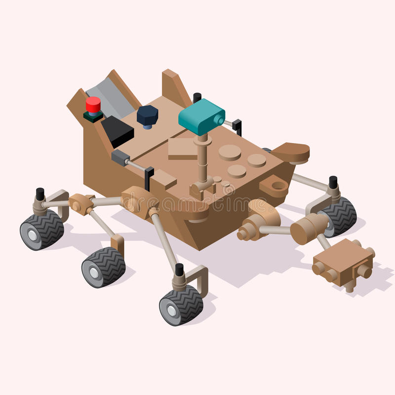 Mars isométrique Rover illustration stock
