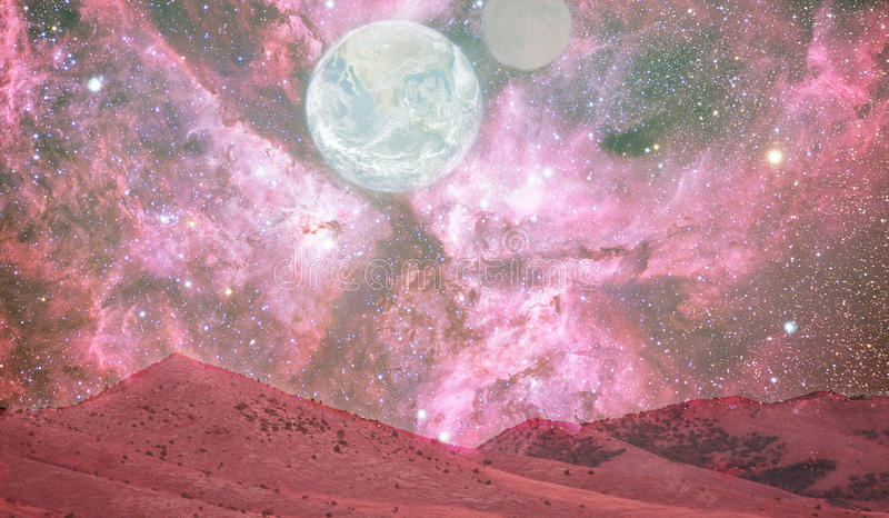Mars landscape. Abstract space landscape from Mars- elements of this image are furnished by NASA stock images