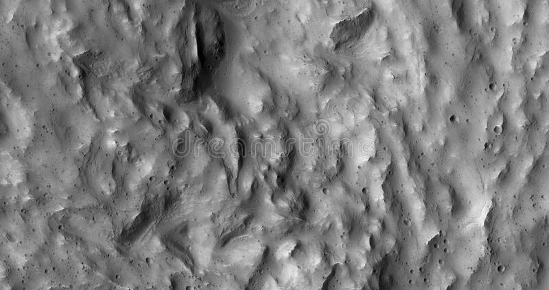 Mars landscape in black and white royalty free stock photo
