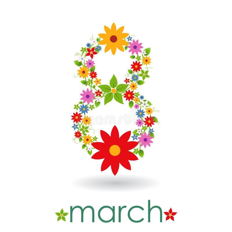 8 mars le jour des femmes illustration libre de droits