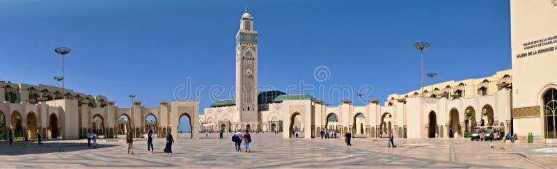 10 mars 2019, Marocko, Casablanca: Den Hassan II moskén eller den stora moskén Hassan II är en moské i Casablanca, Marocko Det ?r royaltyfri fotografi