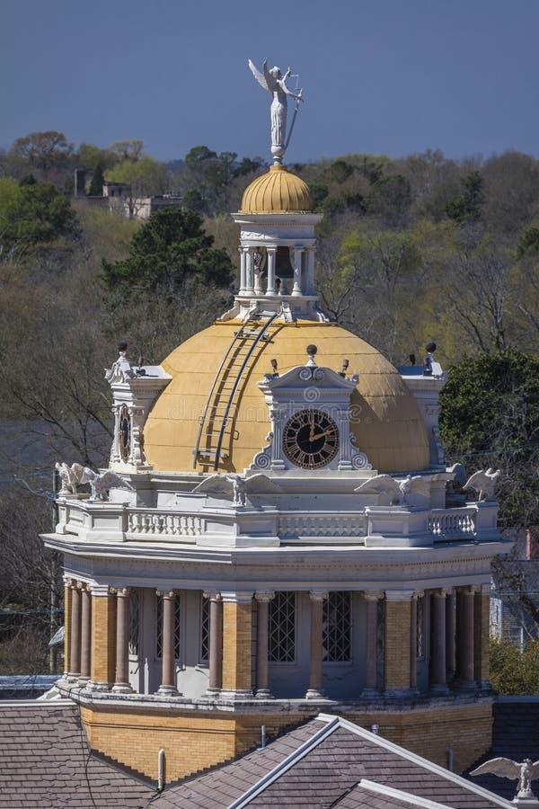 MARS 6, 2018 - MARSHALL TEXAS - Marshall Texas Courthouse-Harrison County Courthouse, Marshall, Lantligt USA royaltyfria foton