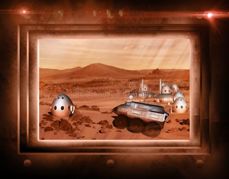 Mars misi koloni pojazd ilustracji