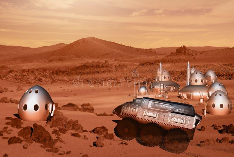 Mars misi kolonia royalty ilustracja