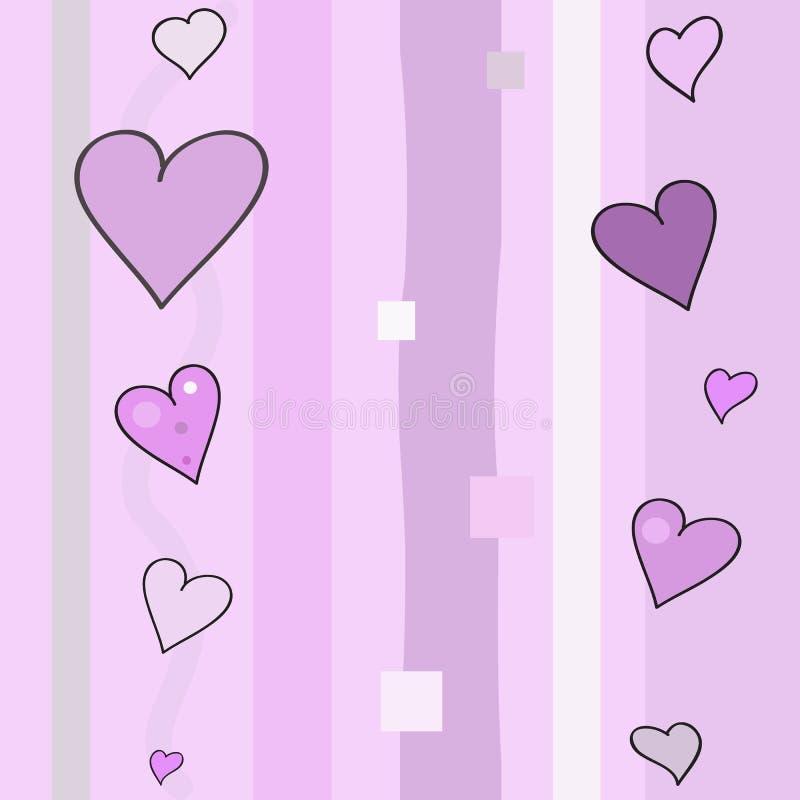 8 mars modèle de coeurs image stock