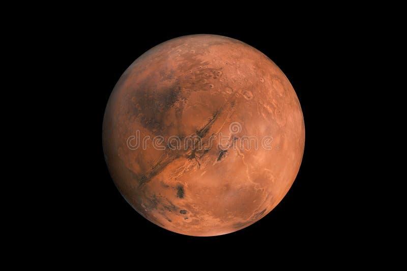 Mars na czarnym tle odizolowywającym czerwona planeta mąci element dla projektantów fotografia royalty free
