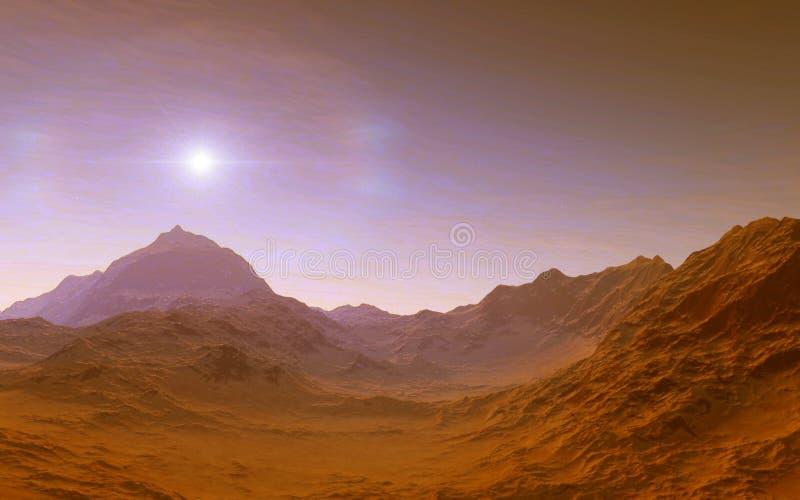 Mars Naukowa ilustracja ilustracja wektor