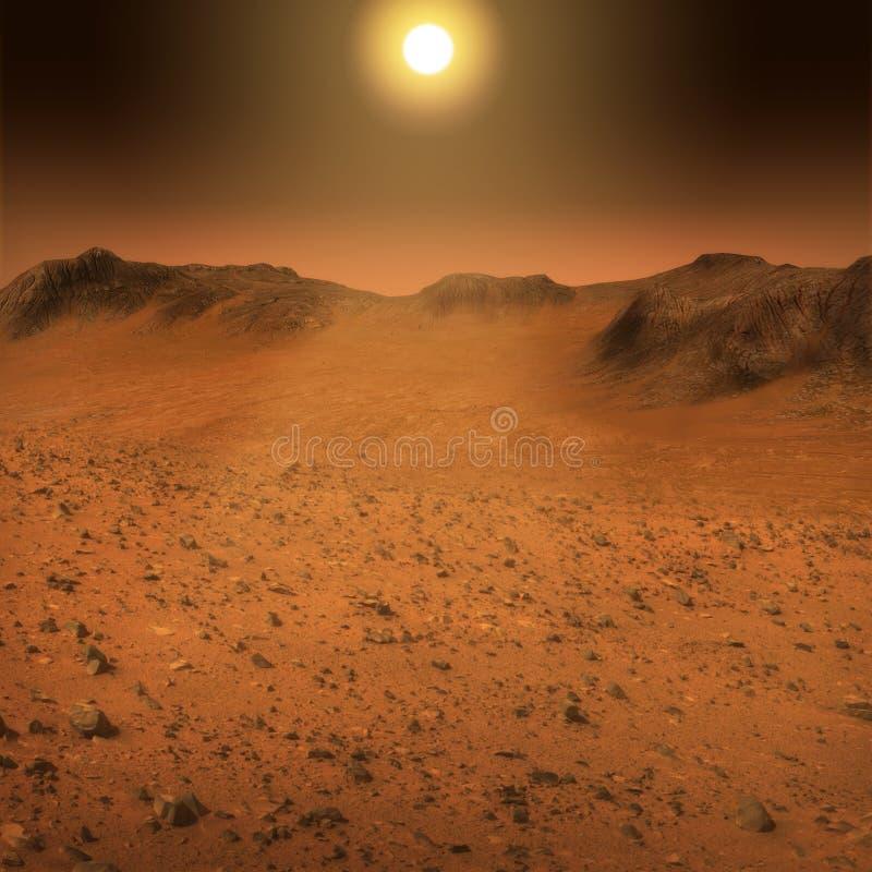 Mars-Oberflächenlandschaft lizenzfreies stockfoto