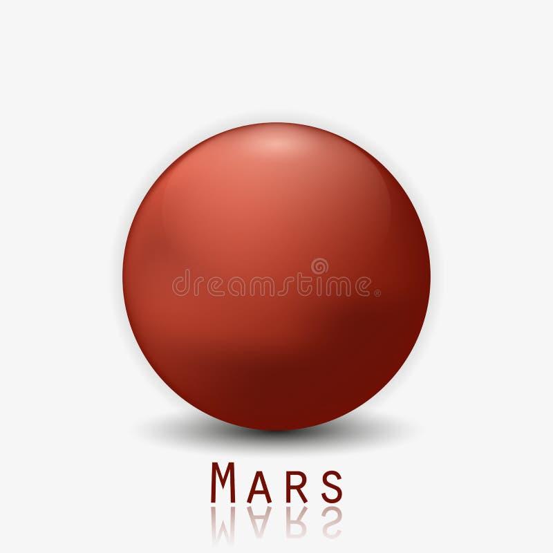 Mars planet 3d vector illustration. stock illustration