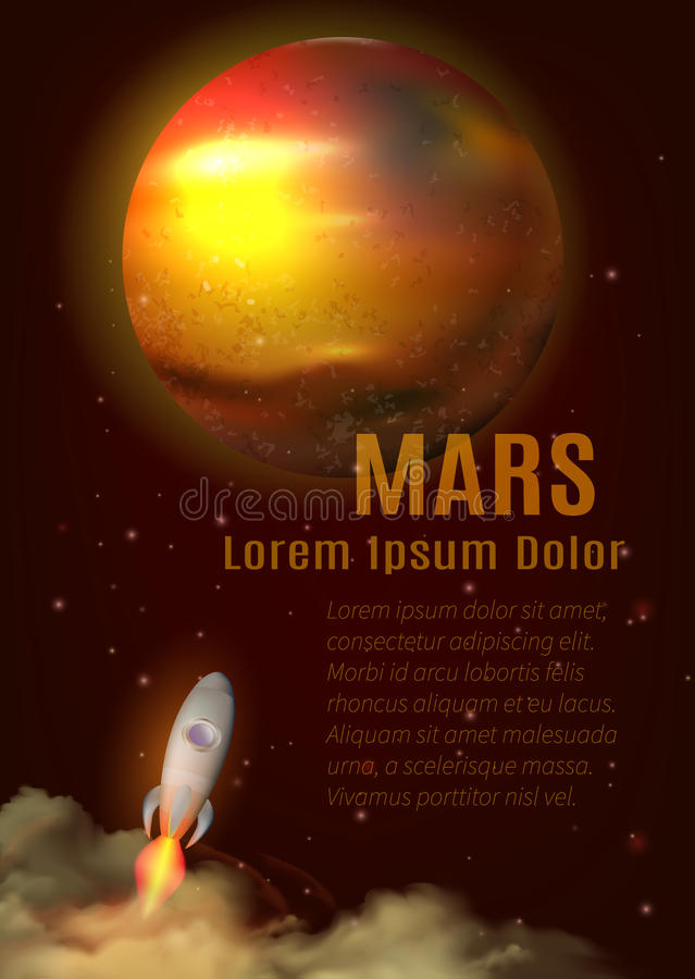Mars Planet Poster royalty free illustration