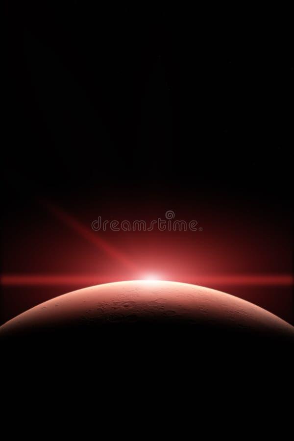 mars Planeten in zonnestelsel royalty-vrije stock fotografie