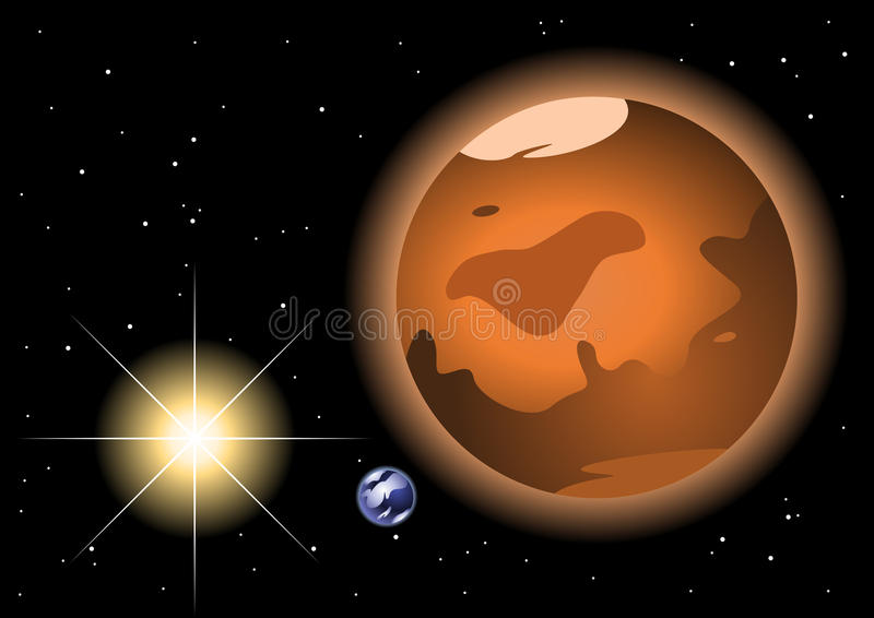 Mars red planet royalty free illustration