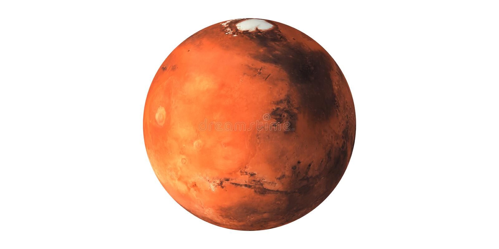 Mars the red planet seen from space royalty free stock images