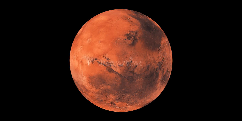 Mars planet red planet solar system stock illustration