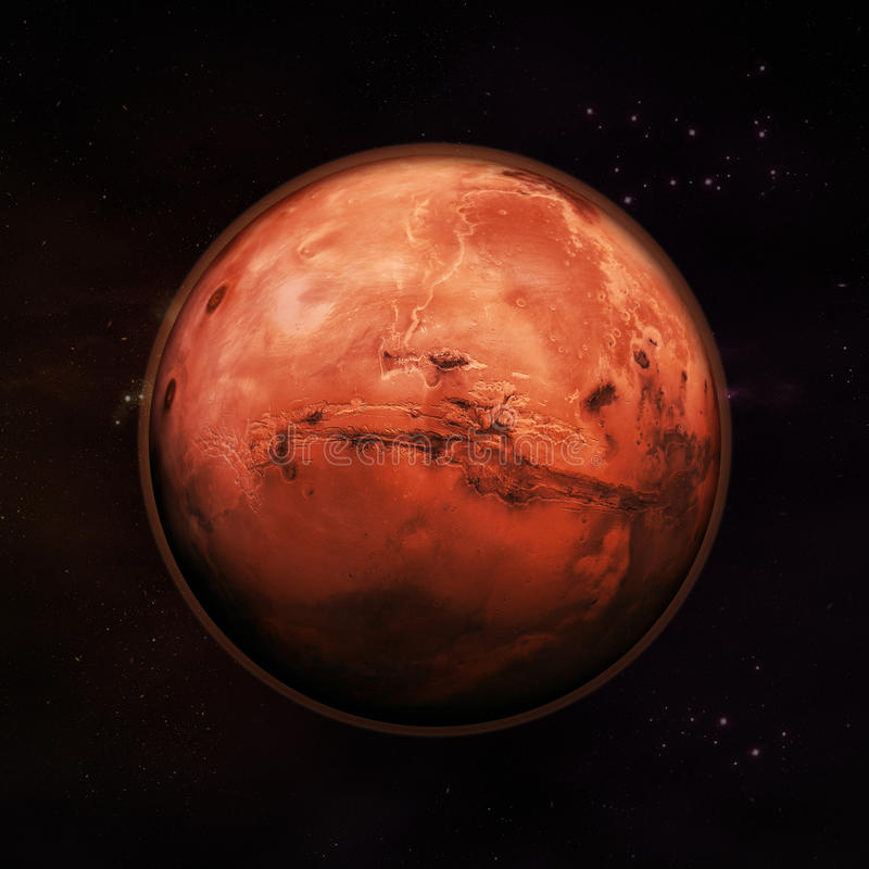 Mars - The Red Planet royalty free illustration