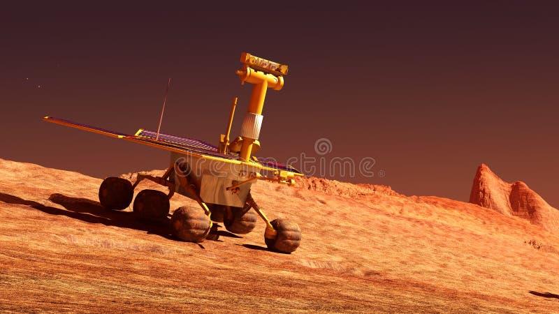 Mars rover on Mars royalty free illustration