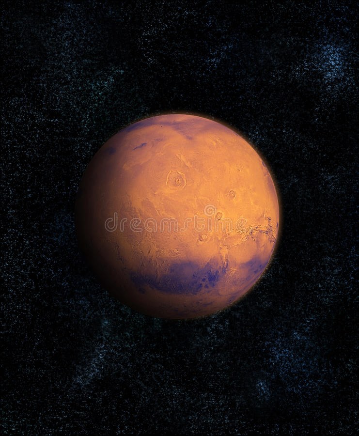 Mars in ruimte stock illustratie