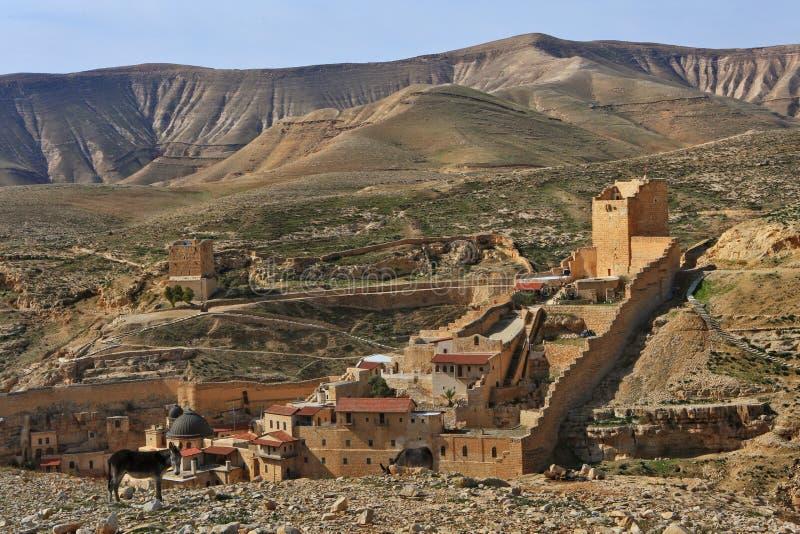 Mars Saba kloster israel arkivbilder