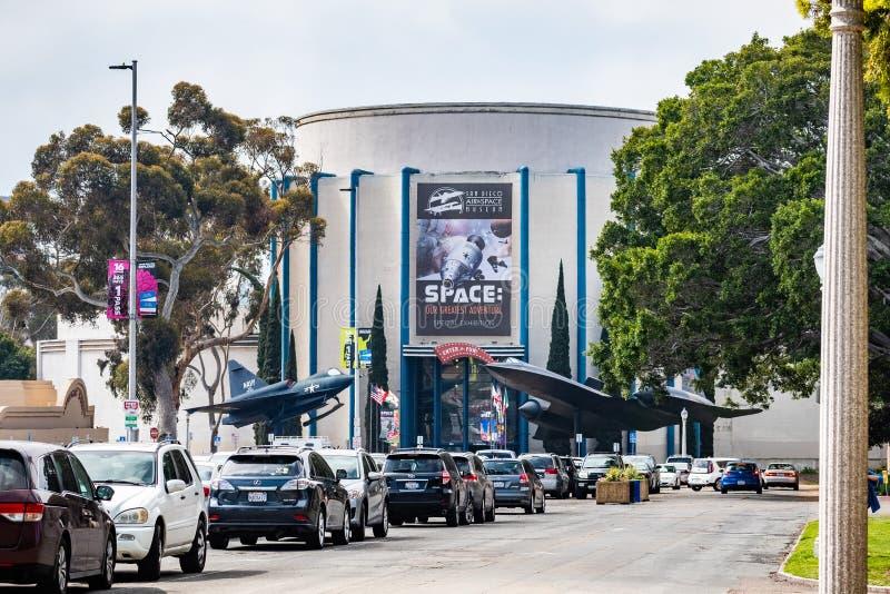 19 mars 2019 San Diego/CA/Etats-Unis - San Diego Air et musée d'espace en parc de Balboa photo stock