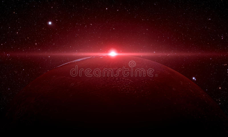 The Mars shot from space royalty free illustration