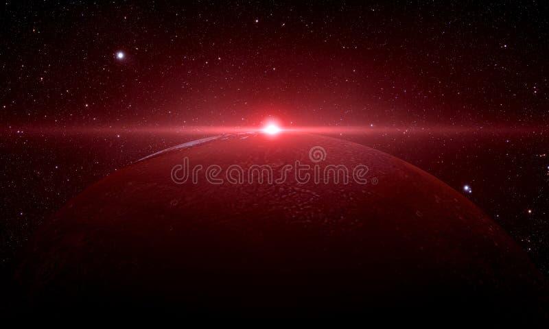 Mars strzał od przestrzeni royalty ilustracja