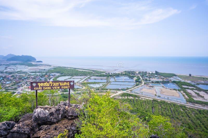 29 mars 2019-Thailand:: Khao Dang View Point p? Prachuap Khiri Khan royaltyfria bilder
