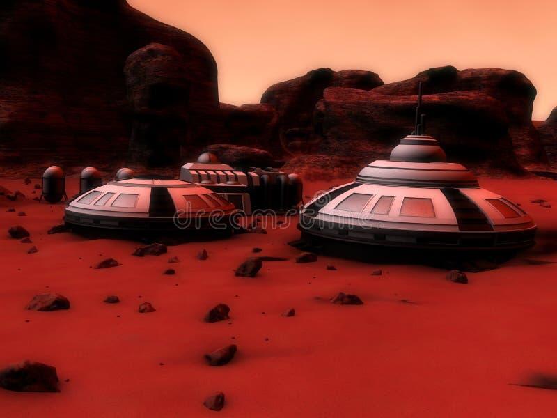 Mars-Unterseite lizenzfreie abbildung