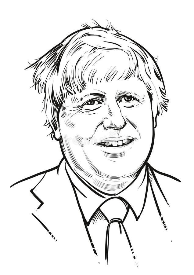 Mars 19, 2018 Utrikesminister för utländska och brittiska samväldetangelägenheter Boris Johnson stock illustrationer