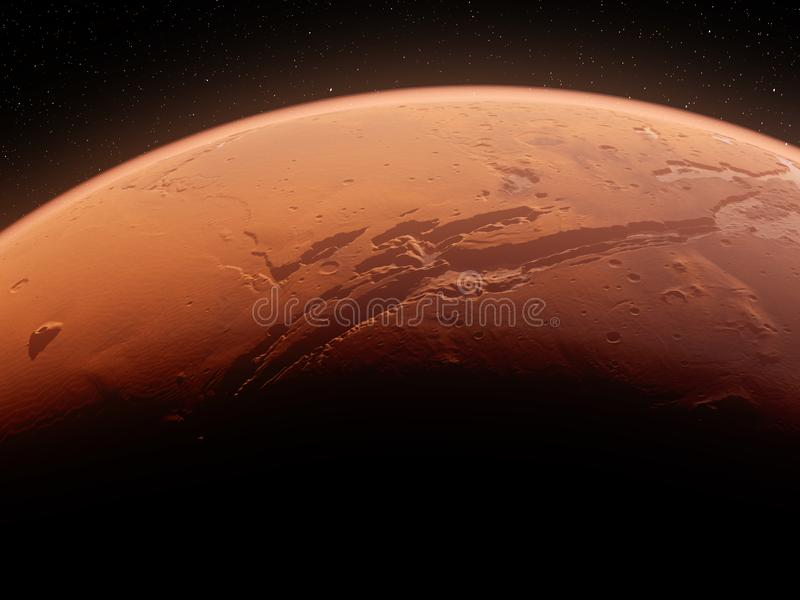 The mars valles marineris stock illustration