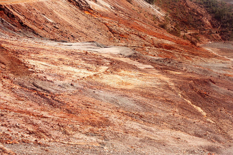 Mars verlaten land royalty-vrije stock foto