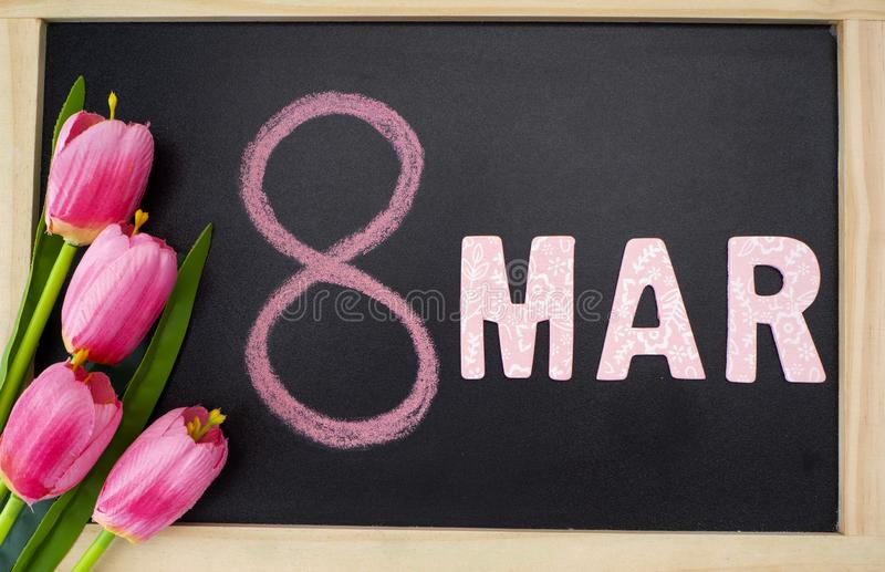 8 mars women' international ; jour de s photos stock