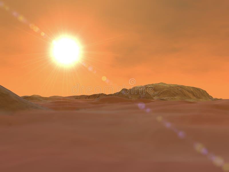 Mars, ziemi skorupa, przestrzeń, układ słoneczny ilustracji