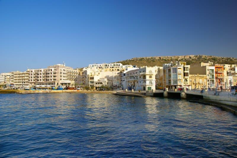 Marsalforn by i den Gozo ön fotografering för bildbyråer