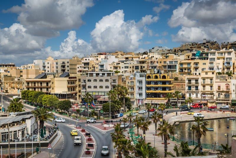 Marsaskala, Malta - 2 de maio de 2016: Marsaskala moderno, Malta foto de stock royalty free