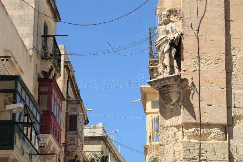 Marsaskala Malta, Juli 2016 E arkivbild