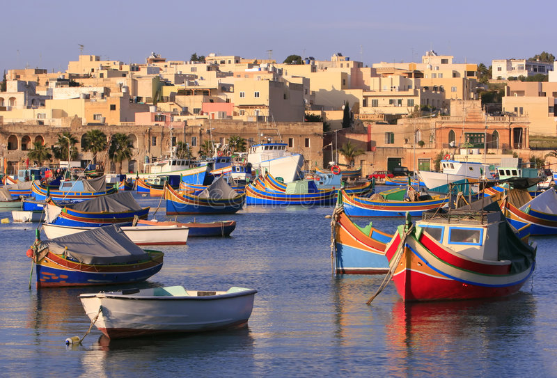 Marsaxlokk Fishing Village #2 Stock Images